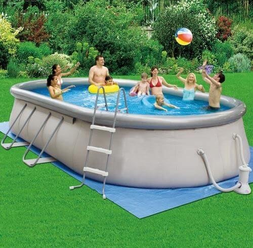 grande piscine auto portée